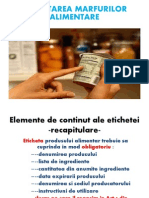 Etichetarea marfurilor alimentare