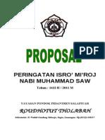 Proposal Isro' Mi'Roj