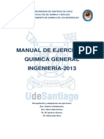 Manual de ejercicios Química General Ingeniería 2013