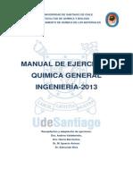 Manual de ejercicios Química General Ingeniería 2013