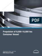 Propulsion of 8000-10000 Teu Container Vessel