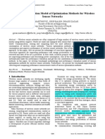 Performance Evaluation Model of Optimization Methods for Wireless