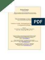 Bourdieu - Sciences Sociales Et Engagement Politique