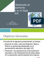 Alejandro Tapia y Rivera Paper