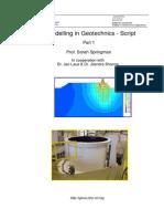 Modelling in Geotechnics