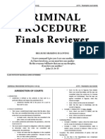 Criminal Procedure Finals Reviewer
