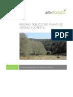 Resumo Público Plano de Gestão Florestal Altri Florestal 2013-2016