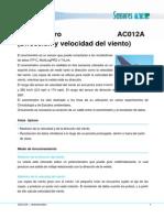 Anemometro AC012A
