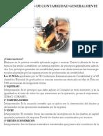 Pcge -Los 15 Principios de Contabilidad Generalmente Aceptados