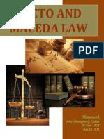 Recto and Maceda Law ddsadasdsadadadasdasdasdasdasda