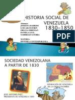 Historia Social de Venezuela 1830-1850