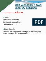Aula 7 - Interações Alélicas, gênicas e alelismo