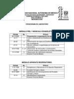 CALENDARIO DE PRÁCTICAS DE LABORATORIO MICROBIOLOGÍA