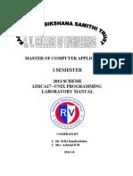 13MCA17- Unix Laboratory Manual 2013