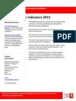 Kent Economic Indicators 2013