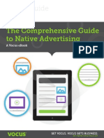 The Comprehensive Guide to Native Advertising Guide