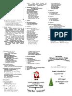 Tata Ibadah Perayaan Natal Sekolah Minggu GKPI Sampali 2013