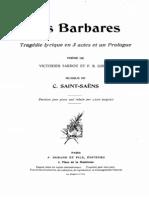 Les barbares C. Saint SENS piano