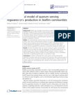 A Mathematical Model of Quorum Sensing Regulated in Biofilm Communities