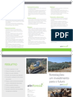 Folheto Florestações