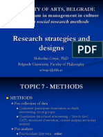 Research Methods - Research Strategies and Designs