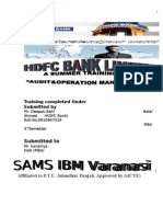 Summer Training Project on HDC Bank Varanasi SHISH MBA SAMS IBM Varanasi
