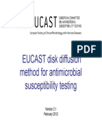 EUCAST 2012 Methods for Antimicrobial Susceptibility Testing