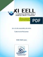 Caderno de Resumos EELL 2013