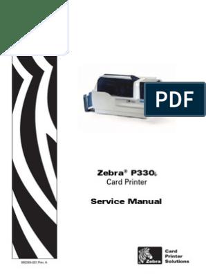 Zebra P330i Service Manual   Printer (Computing