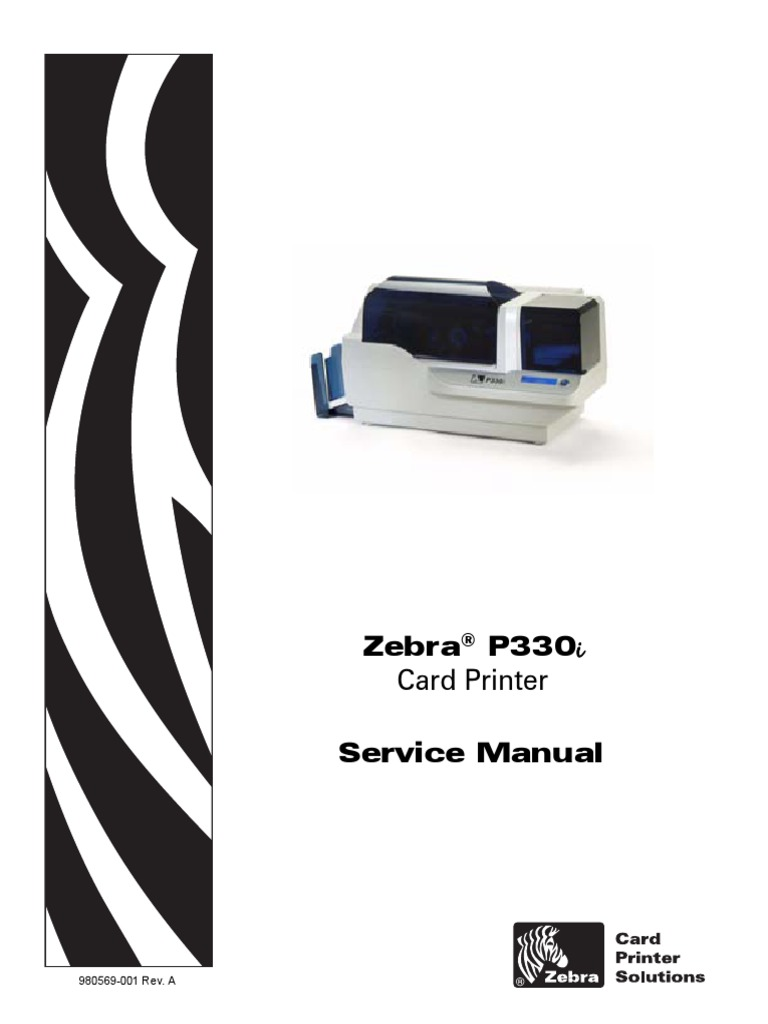 Zebra P330i Service Manual   Printer (Computing)   Electromagnetic  Interference