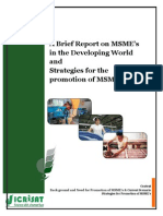 A Brief Report on MSME's