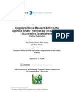 CSR in the Agrifood Sector