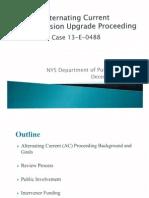 Alternating Current Transmission Upgrade Proceeding