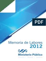MP Memoria de Labores 2012