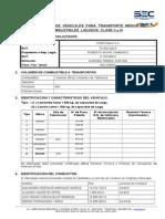Formulario Declaracion Vehiculo Transporte Menor Clase II y III Corregido