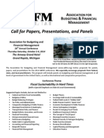 Call for Papers & Proposals - 2014 ABFM Conference