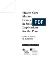 Healthcare Market Competition 1998