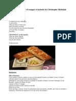 Les financiers fleur d'oranger et noisette de Christophe Michalak