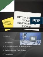 Metoda Duritatii Vickers