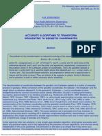 1 Accurate Algorithms to Transform Geocentric to Geodetic Coordinates (Borkowski 1989)
