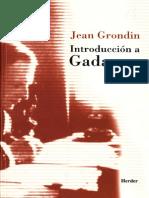 Grondin Jean - Introduccion a Gadamer