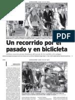 Un recorrido por el pasado y en bicicleta