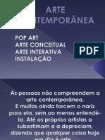 ARTE CONTEMPORÂNEA.pptx9º ANO