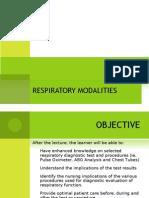 respiratory modalities