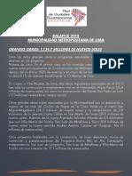 Balance de Gobierno 2013 - Lima