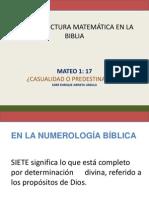 Una Estructura Matematica en La Biblia 1