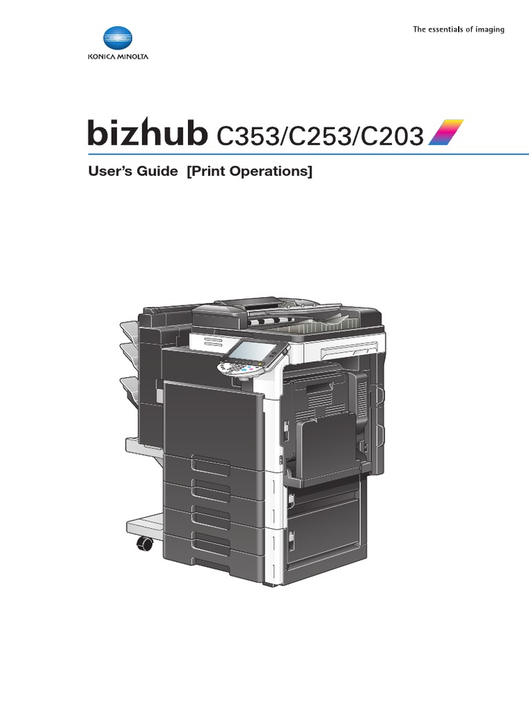 bizhubC353_C253_C203PrintOpUserGuide | Microsoft Windows | Installation  (Computer Programs)