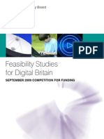 TSB Feasibility Studies for Digital Britain