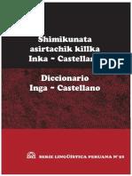 Diccionario Quechua Inga Castellano