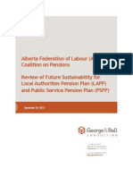Review of Alberta public pension plans sustainability by George and Bell